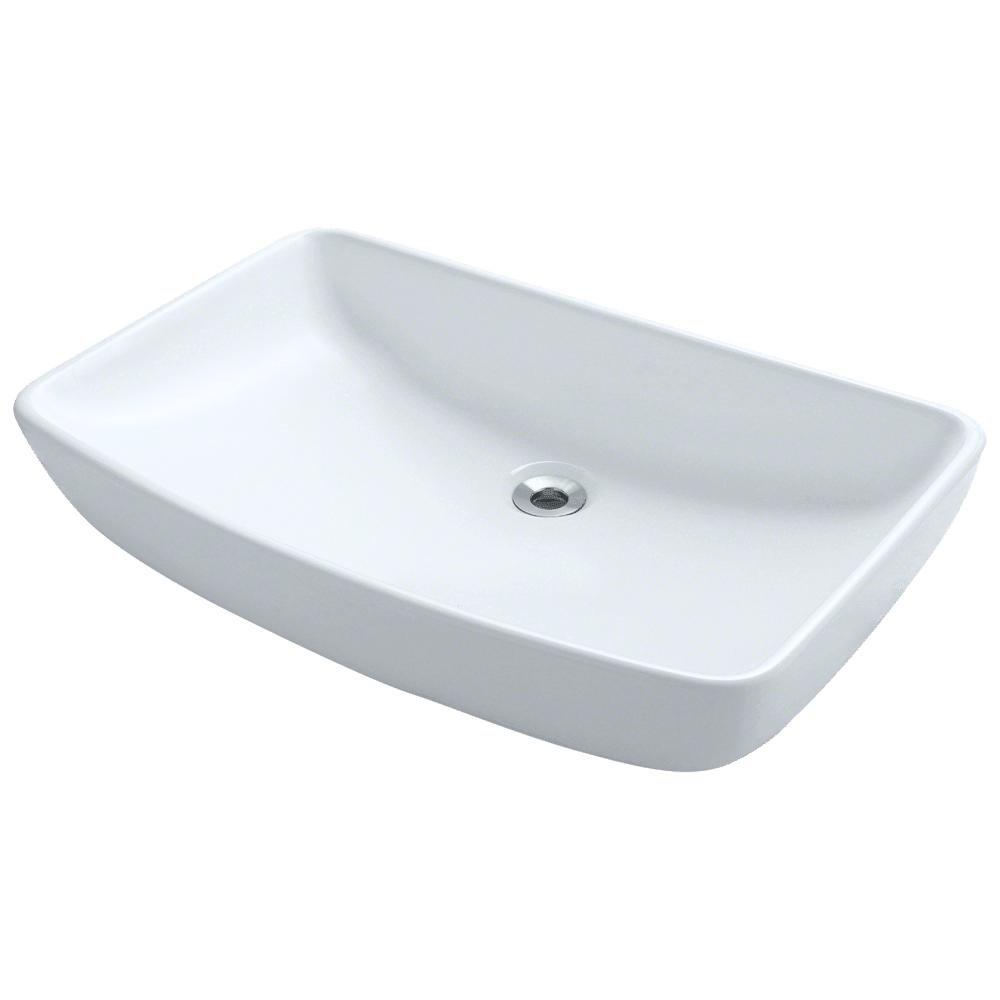 V350-W White Porcelain Vessel Lavatory Sink