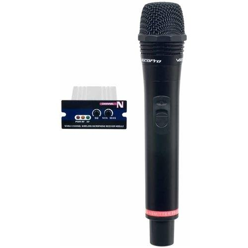VocoPro UMH-5805 Single UHF Module and Rechargeable Wireless Microphone, Channel K: 34 (593.500MHz), Green