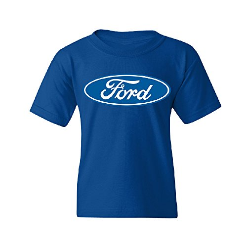 Official Ford Logo American Classic Youth T-shirt Brand Tee Royal Blue Youth Small