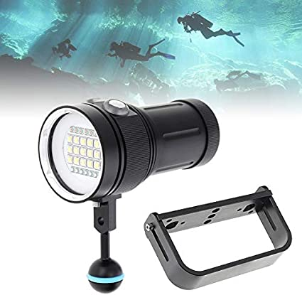 UV Diving Flashlight Scuba Snorkeling Torch Chargeable Lamp Underwater Lighting