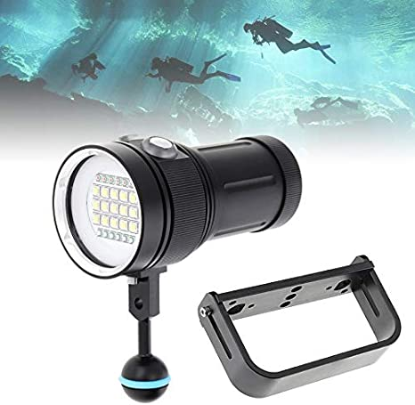 Underwater 200m 18000lm 6x XM-L2 LED Scuba Diving Flashlight Fishing Torch Light