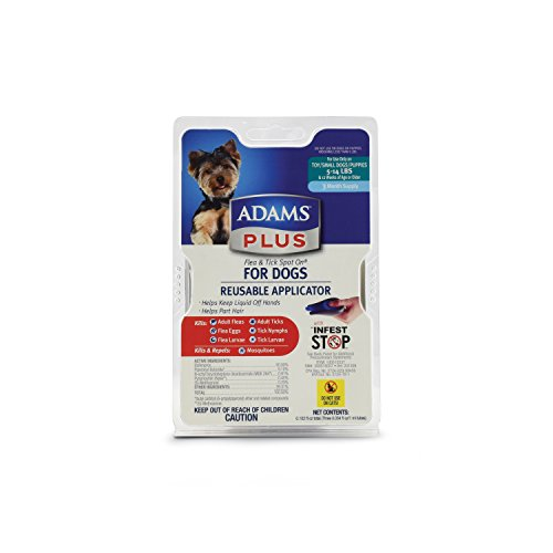 Adams Plus Flea and Tick Spot On  for Dogs, Small Dogs 5-14 Pounds, 3 Month Supply, With (Flea Spot)