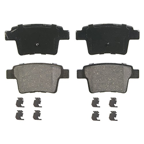 Wagner QuickStop ZD1071 Ceramic Disc Pad Set Includes Pad Installation Hardware, Rear (2008 Jaguar X Type Brake)