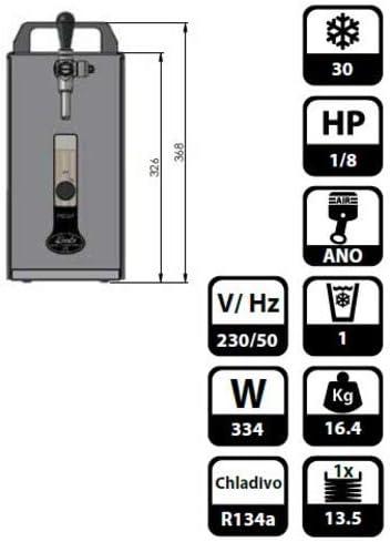 con accessori 30l//h spillatore Pygmy 25 RADIATORE a secco