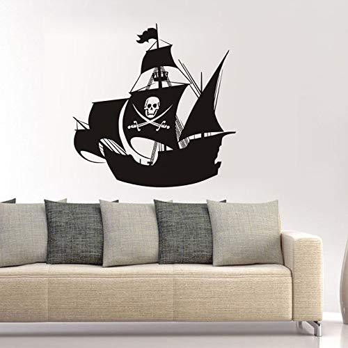 hllhpc Pegatinas de Pared de Vinilo Barco Pirata Nave con ...