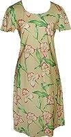 Orchid Panel Hawaiian Aloha Cap Sleeve Short Tank Dress