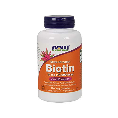 NOW Biotin 10 mg (10,000 mcg),120 Veg Capsules