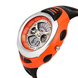 Young Analogue Digital Silver DIAL Boy's Watch – DMF 033 Orange