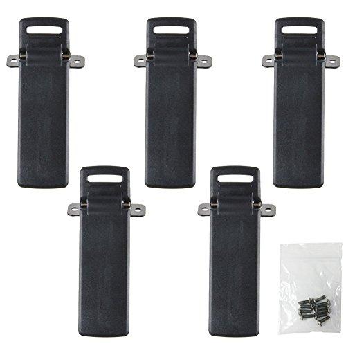 KENMAX Two Way Radio Handheld Belt Clip with Screws for Baofeng UV-5R UV-5RA UV-5RB UV-5RC 5RD 5RE (5 Packs)