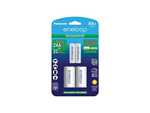 Eneloop Rechargeable AA 1.2V 2000mAh NiMh Batteries with C-c