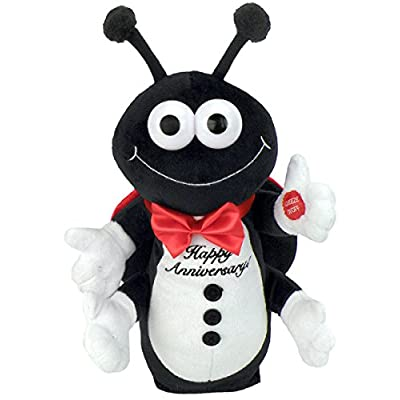 "Chantilly Lane Lady Bug Sings Happy Anniversary Plush, 12"": Toys & Games"