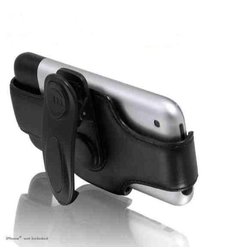 Macally Swivel Belt Clip And Stand For iPhone - Leather