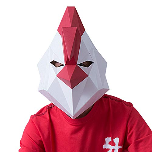 VIPbuy 3D Paper Mache Mask DIY Costume Cosplay Party Rooster Head Mask