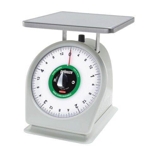 Rubbermaid FG805RWQ Kitchen Dial Scale - Heavy Duty with Air Dashpot, Rotating Dial, 5 lbs. x 1/2 oz. Capacity (Air Dashpot)