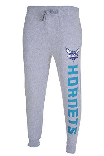 fan products of NBA Men's Charlotte Hornets Jogger Pants Active Basic Soft Terry Sweatpants, Large, Gray