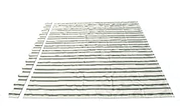 ALEKO Awning Fabric Replacement 13x10 Feet For Retractable Awning,  MULTISTRIPE GREEN