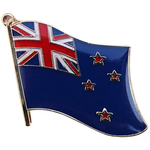 Collectible Metal Buttons - New Zealand Flag Metal Collectible Olympic Backpack/Hat Pin (New Zealander Kiwi Pin, 0.75