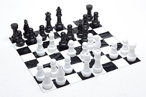 (Garden Games Junior Jumbo Chess with 4' x 4' Mat)