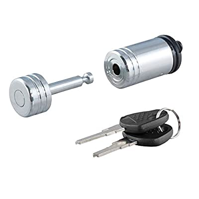 CURT 23520 Chrome Trailer Tongue Coupler Lock, 1/4-Inch Pin Diameter, Up to 7/8-Inch Coupler Span: Automotive