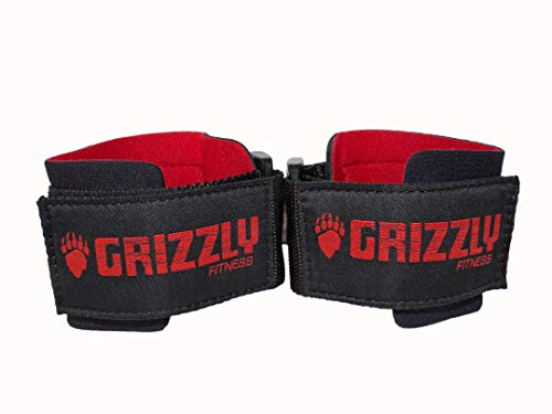Grizzly Fitness Power Weight Training Wrist Wraps for Men and Women | Sold in Pairs | One-Size | Used by Pros to provide Wrist support during Lifting and Pulling | Pro grade durable stitched Cotton and Nylon blend  with comfortable Neoprene padding | Fully adjustable Velco Hook and Loop closure