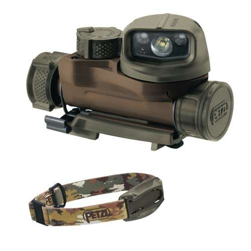 Petzl STRIX IR tactical headlamp Color: CAMO E90BHBC by Petzl