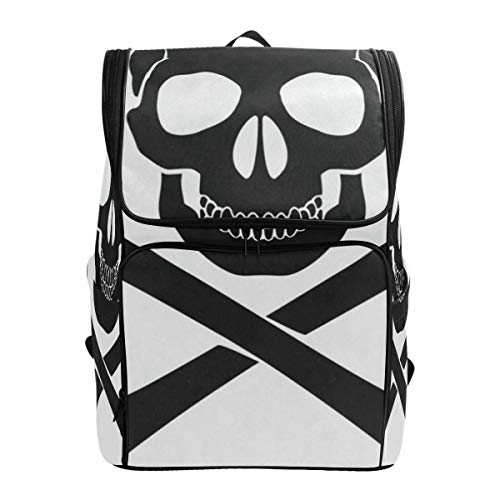 LoveBea Travel Backpack Skull Crossbones Icon Duffle Backpack for Men Big Backpacking Bookbag