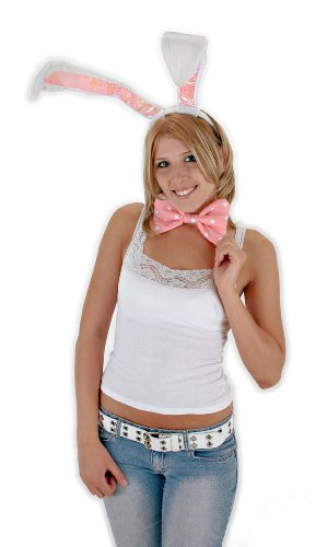 [elope White Bunny Costume Kit] (Bunny Costume For 12 Year Old)