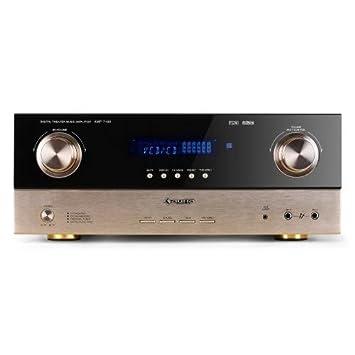 Auna AMP-7100 Amplificador HIFI home cinema 7.1 (2000W, sintonizador radio, entradas ópticas, mando a distancia): Amazon.es: Electrónica