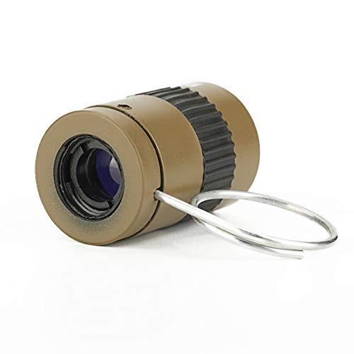 Ultralight Mini Spy Telecsope 2.5x17.5mm Thumb Monocular Handheld Mini Pocket Monocular Telescope (Khaki)