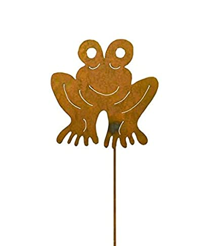 Amazon Com Frog Decorative Metal Garden Stake Whimsical Yard Art