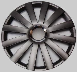 Tapacubos Revestimientos Tapacubos Spyder Pro gris oscuro 16 pulgadas Juego de 4, Opel Fiat