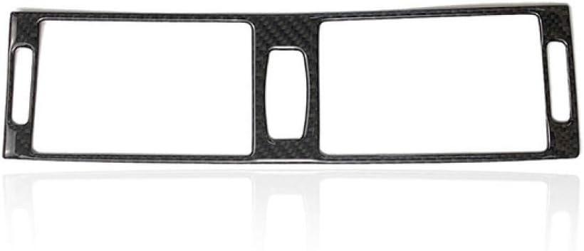para BMW X5 E70 X6 E71 2008 2009 2010 2011 2012 2013 GLEETIEZ Centro de Fibra de Carbono para autom/óvil//Aire Acondicionado Lateral Cubierta de Panel de Salida de ventilaci/ón de Aire