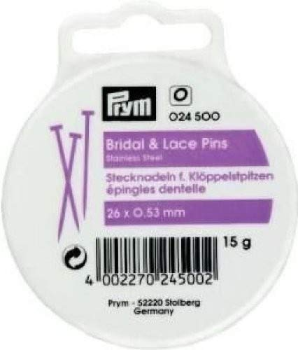 Prym Bridal and lace pins V2A 0.53 x 26 mm
