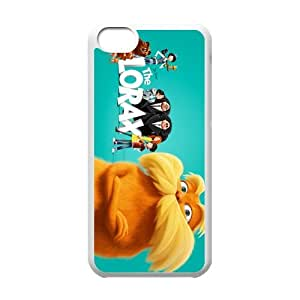 3D film Dr. Seuss' The Lorax Personalized iPhone 5C Hard Plastic Shell Case Cover White&Black(HD image)