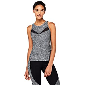 Marchio Amazon – AURIQUE Canotta Sportiva con Inserti in Mesh Donna
