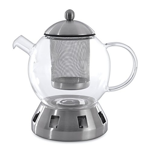 Berghoff Glass Tea Pot with Strainer, 5-1/2-Cups