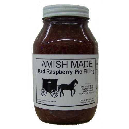 Amish Buggy Pie Filling, Red Raspberry, 32 Ounce (Pack of 12)
