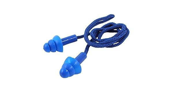 REFURBISHHOUSE Tapones de silicona Azul con cordon elastico ...