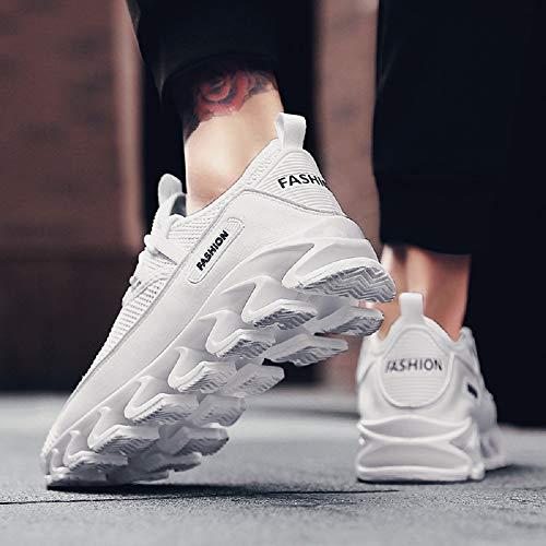Chaussures de weiß de élégantes Midsole Choc Absorption 3 Mode Lame Hommes Sport Baskets rOr6CwAq
