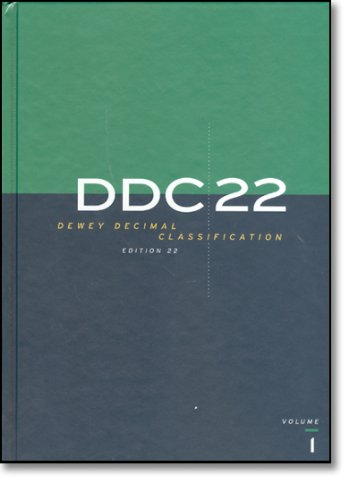 DEWEY DECIMAL CLASSIFICATION, EDITION 22
