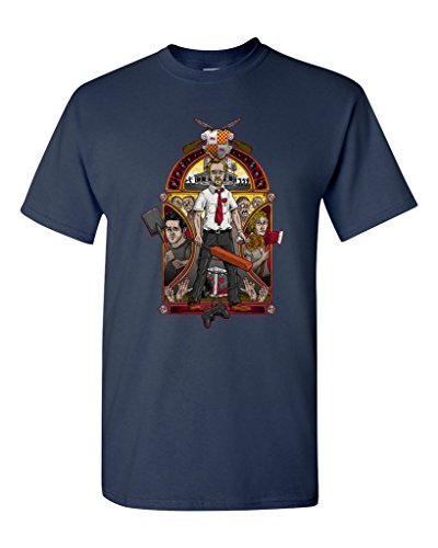 (Shaun of The Nouveau Zombies Salih Gonenli Artworks Funny Parody DT Adult T-Shirt Tee (XXXXX Large, Navy Blue))