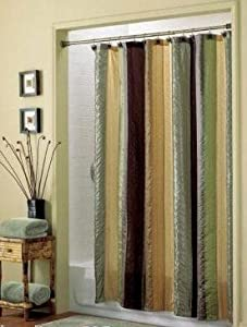 Bazaar Stripe Fabric Shower Curtain Springs Like Wamsutta Serendipity