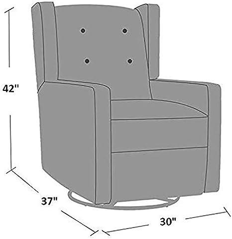 Cream Swivel Glider Rocker Recliner Fabric Chair by Marabell in Soft Microfiber