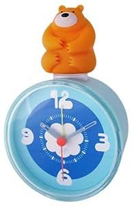 Lip 1433389 - Reloj despertador infantil (cuarzo, analógico), diseño de oso, color azul