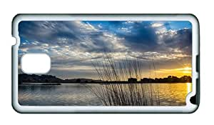 Sale Samsung Note 3 on sale cover Lake morning sun sunrise clouds TPU White for Samsung Note 3/Samsung N9000