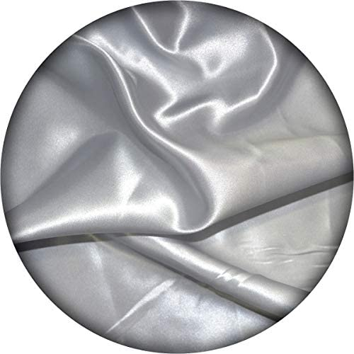 Satin Fabric | Medium Weight - Fashion Crafts | 60\u201d-Inch-Wide- 10 Yards by Roll | Durable for Wedding Dress Gowns Costumes Table Sheet and Decorations