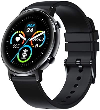 New Zeblaze GTR Health and Fitness Smartwatch with Heart Rate, Exercise Modes, Sleep Tracking, Water Resistant 30M, 30 Days Battery Life, Slim and Sleek, Fitness Tracker for Women and Men (Black)