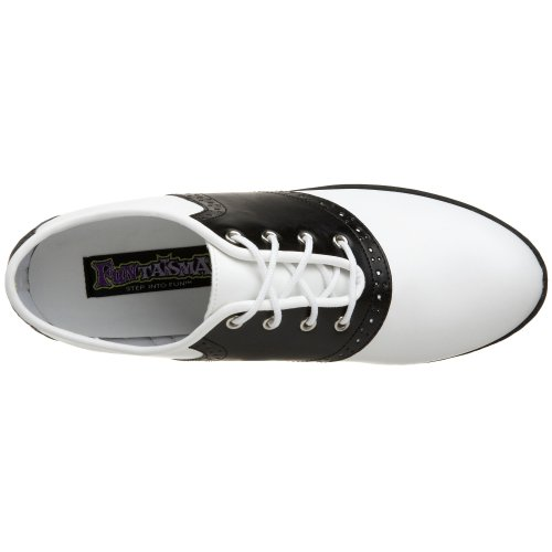 Pleaser Pu Nero Wht Saddle Donna Oxford Scarpe 50 Blk RRxrqT