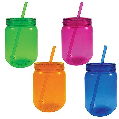 plastic colored jars - 3