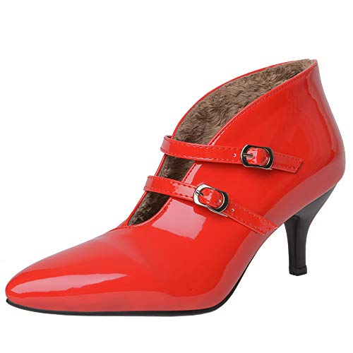 Pumps Lydee Mary Femmes Chaussures Low Top Mode Janes Rouge iXZPOkuT